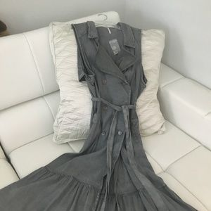 Free People grey Cotton Dress Jacket